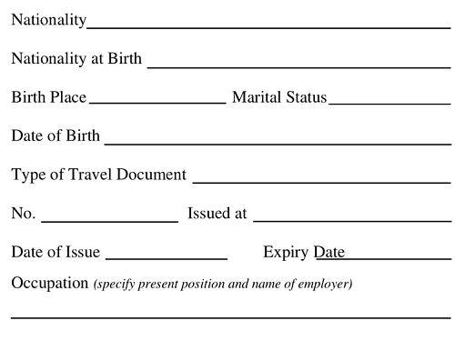 Thai Visa Form Fill Thailand Visa Application Form Thaiest