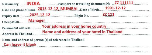 Thailand Visa On Arrival Form How To Fill Thai Voa Form Thaiest
