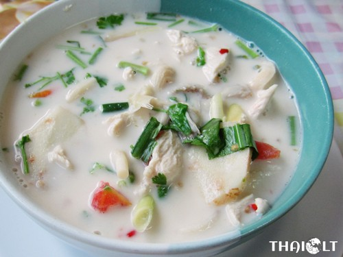 Tom Kha Gai (Thai Coconut Galangal Chicken Soup)
