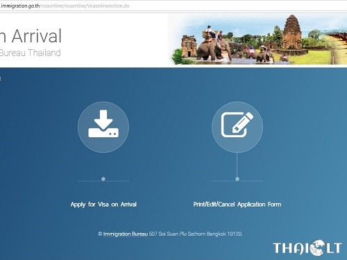 Thailand Visa On Arrival Online Fill Application Form Thaiest